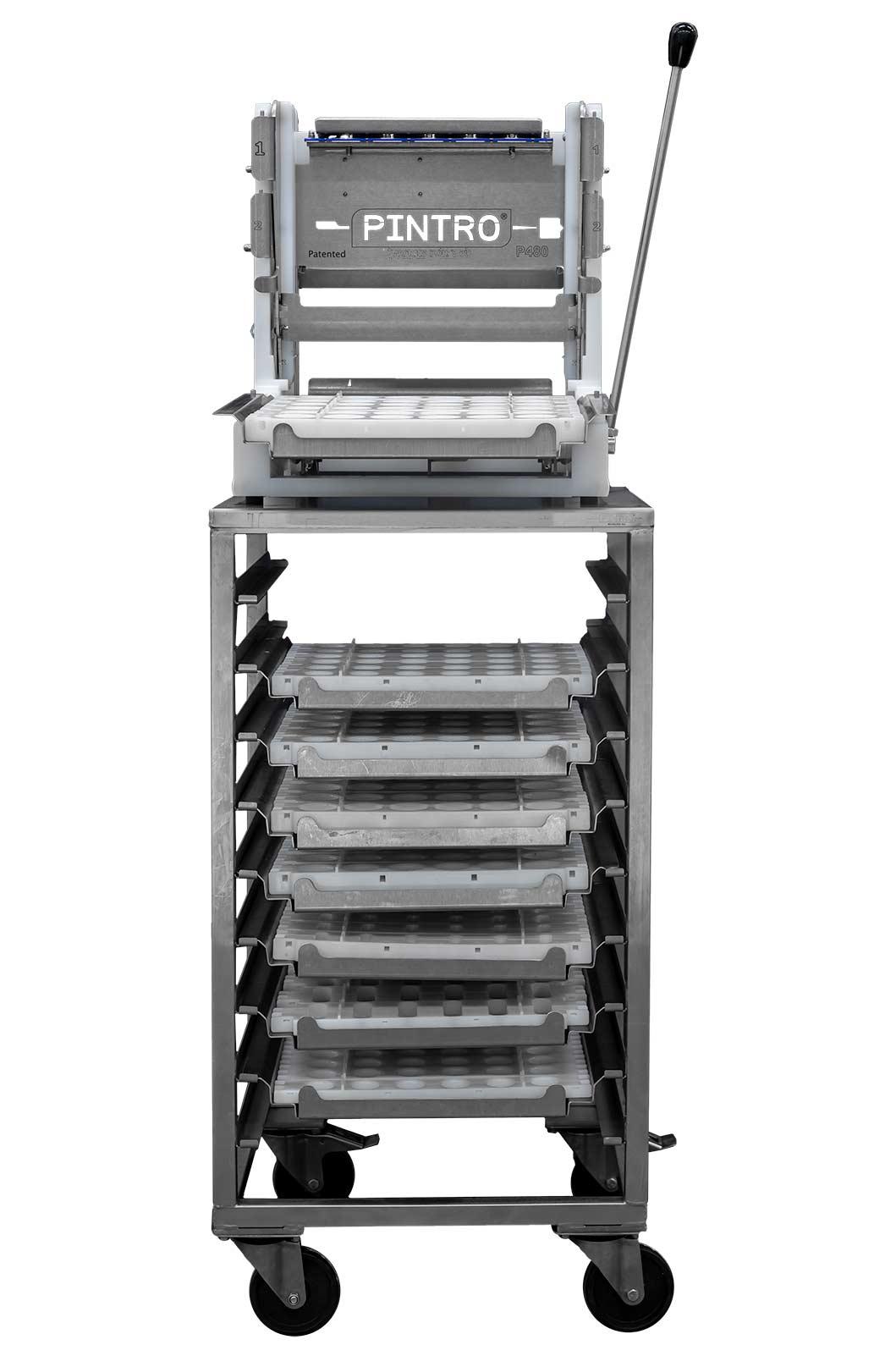 PINTRO P480 manuelle Spießmaschine Arbeitsfläche